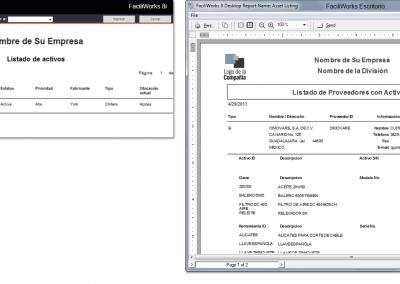 FaciliWorks CMMS - Informes
