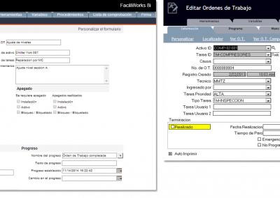 FaciliWorks CMMS - Órdenes de Trabajo y MPs